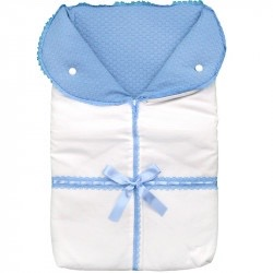 Blue Bow Sleep Sack