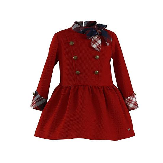 Red Buttons Dress