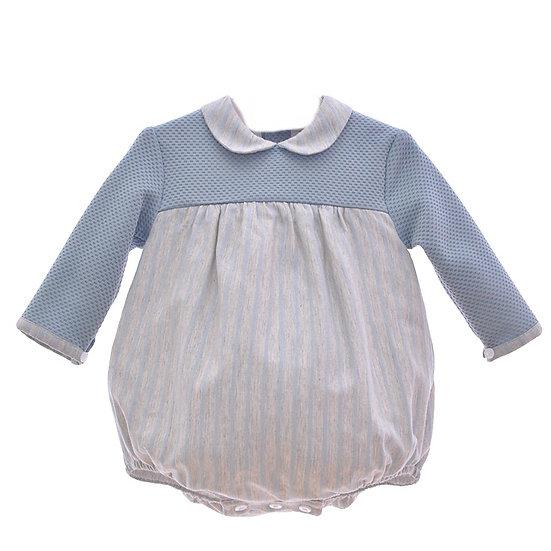 Baby Grey Stripes Romper