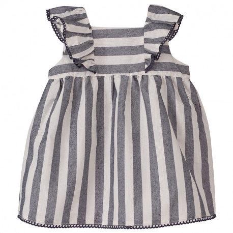 Varadero Stripped Ruffle Dress