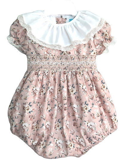 Florally Smocked Romper