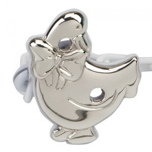 Silver Goose Pacifier holder