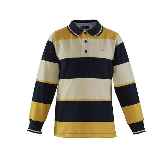 Boys Yellow and Navy Polo