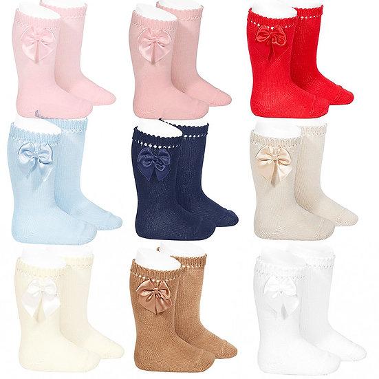 Perle Knee High Sock w/ Bow