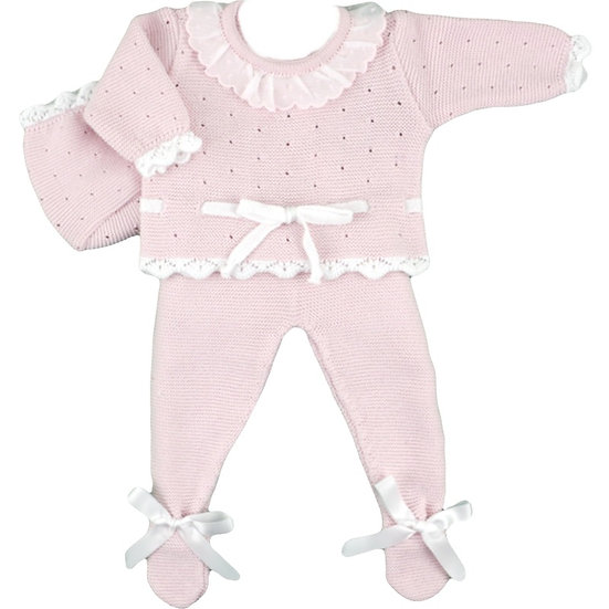 Baby Tie Knitted Ensemble