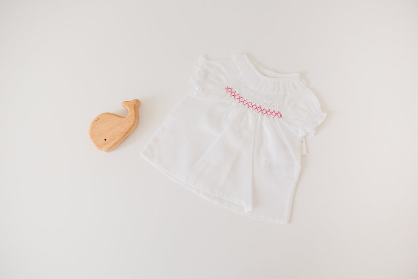 Criss Cross smocked top