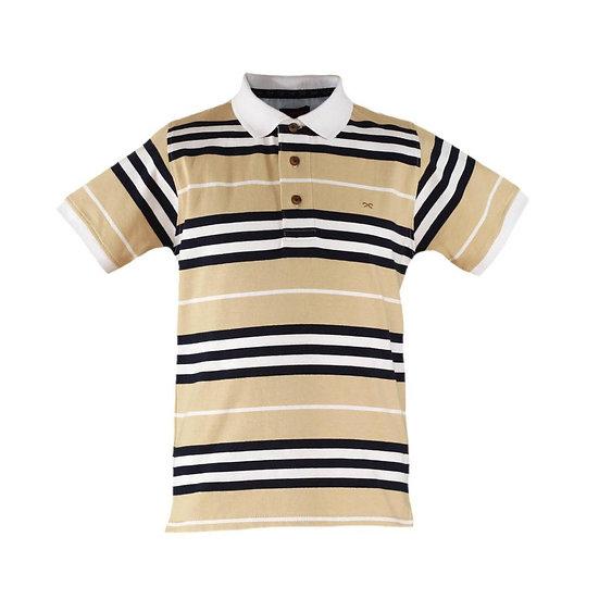 Beige Stripe Polo