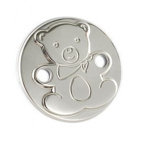 Silver Bear Pacifier holder