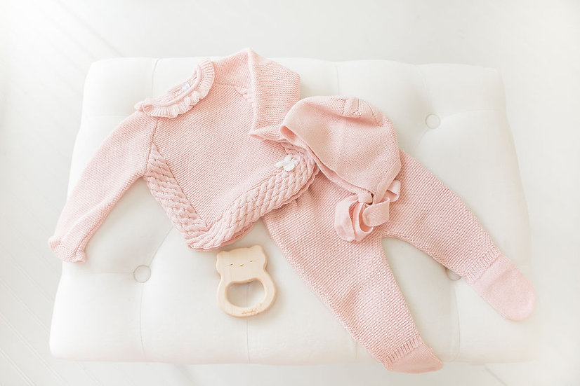 Wool Knitted Ensemble