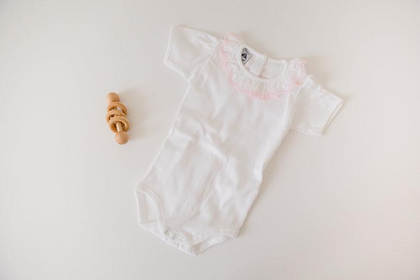 Pink Ruffle Bodysuit