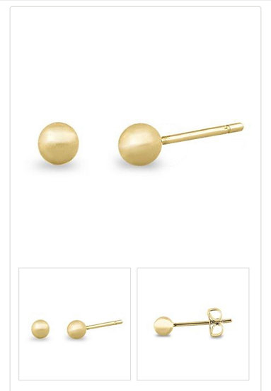 3mm Solid 14K Gold  Ball