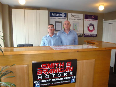 Anthony Branigan and Raymond Smith owners garage Lucan