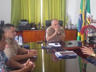 Diretoria Executiva da ABERSSESC reúne-se com o secretário da SSP e comandante-geral da PMSC