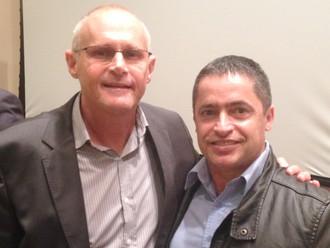 Vice-presidente da ABERSSESC, subtenente Cléber de Paulo Irmão, prestigia palestra do ex-secretário