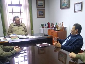 Diretoria Executiva da ABERSSESC reúne-se com o subcomandante-geral da PMSC