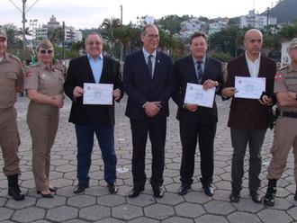 ABERSSESC recebe homenagem do Centro de Formação e Aperfeiçoamento de Praças - CFAP