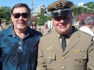 Presidente da ABERSSESC prestigia solenidade de promoção de oficiais praças