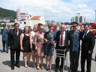 ABERSSESC presta homenagem na formatura do CFS Bombeiro Militar