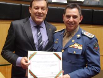 ABERSSESC é homenageada pelo Corpo de Bombeiros Militar, que comemora 90 anos de trabalho a sociedad