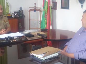 Presidente da ABERSSESC realiza visitas aos comandantes-gerais da PMSC e do CBMSC