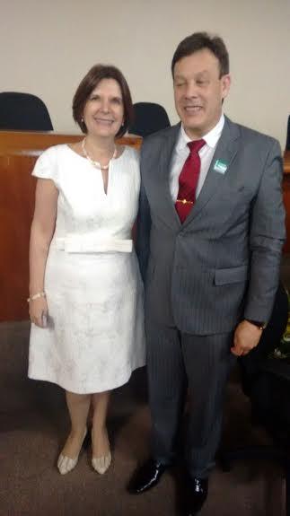 Presidente com a ministra do STM