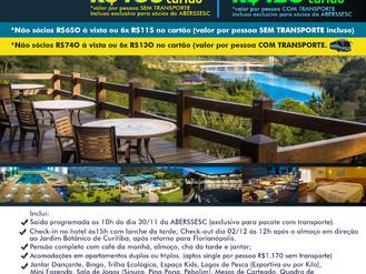ABERSSESC promove passeio de lazer para o Ecoresort Plaza Capivari no Paraná
