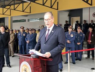 Presidente da ABERSSESC, subtenente Flavio Hamann, prestigiou solenidade de 15 anos de emancipação d