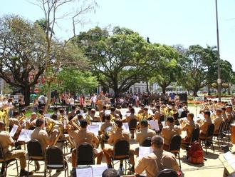 Banda da PMSC realiza almoço festivo pelos seus 123 anos na sede da ABERSSESC