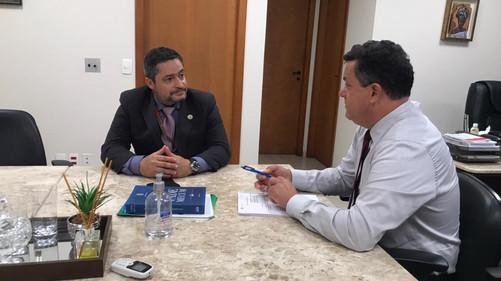 Presidente da ABERSSESC reuniu-se com o deputado estadual Ivan Naatz (PL)