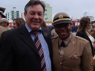 Presidente da ABERSSESC prestigia solenidade de promoção de oficiais e praças da PM e do CBMSC