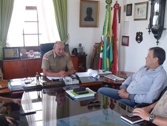 Diretoria Executiva realiza reuniões sobre o QOA com os comandantes-gerais da PMSC e BMSC