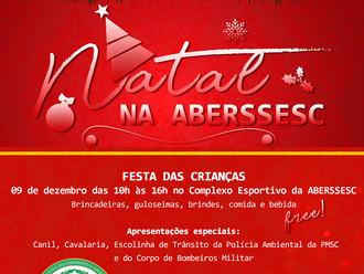 Tradicional Festa de Natal das crianças será realizada no dia 9 de dezembro na ABERSSESC