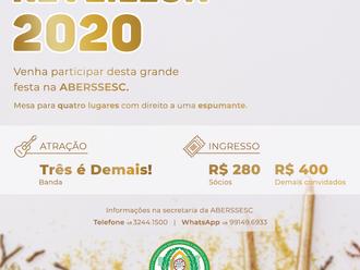 Convites para o Réveillon 2020 na ABERSSESC já estão à venda