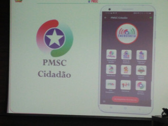 Vice-presidente da ABERSSESC prestigia solenidade de lançamento do aplicativo PMSC Cidadão