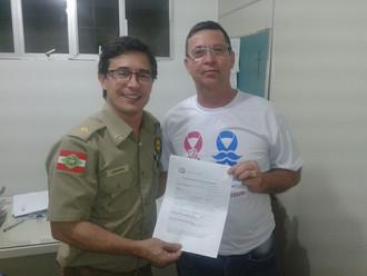 Subtenente Luiz Fernando Schmitz do HPM é o novo sócio da ABERSSESC