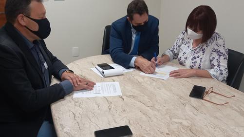 ABERSSESC reúne-se com o deputado estadual coronel Onir Mocellin