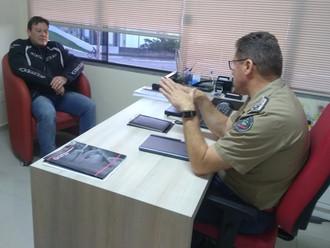 Diretoria Executiva da ABERSSESC reúne-se com o comandante-geral do CBMSC