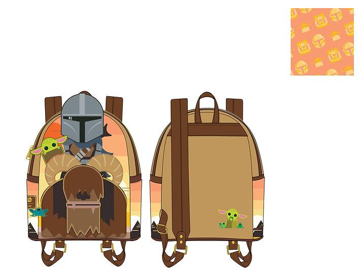 Pre-Order Loungefly Star Wars Mandalorian Bantha Mini Backpack
