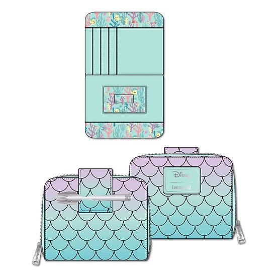 Pre-Order Loungefly Disney Little Mermaid Ombre Scales Wallet