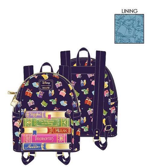 Pre-Order Loungefly Disney Princess Books AOP Mini Backpack