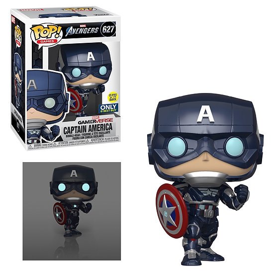 Pop! Marvel Captain America Best Buy Glow in the Dark