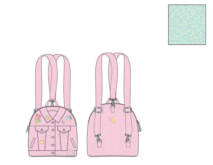 Pre-Order Loungefly Pokemon Ice Cream Denim Convertible Jacket Mini Backpack