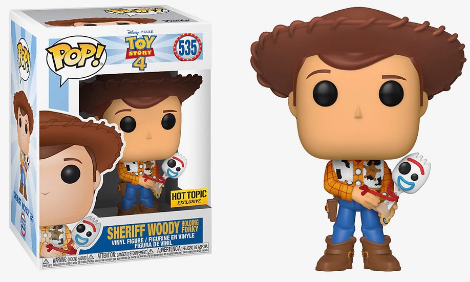 Pop! Sheriff Woody Holding Forky Hot Topic