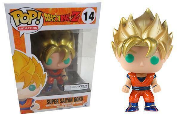 Pop! DBZ Super Saiyan Goku Loot Crate (Metallic)