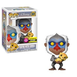 Pop! Rafiki With Simba Flocked