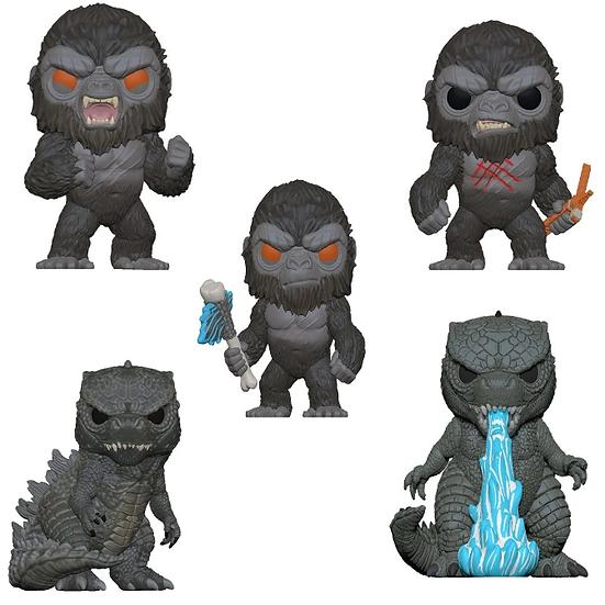 Pre-Order Pop! Godzilla vs. Kong 5pc Bundle