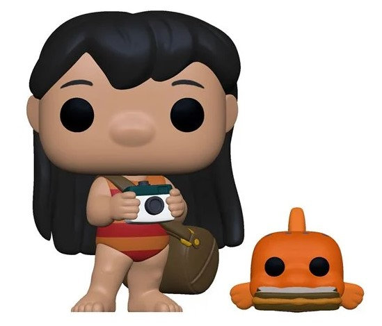 Pre-Order Pop! Lilo and Stitch-Lilo with Pudge the Fish