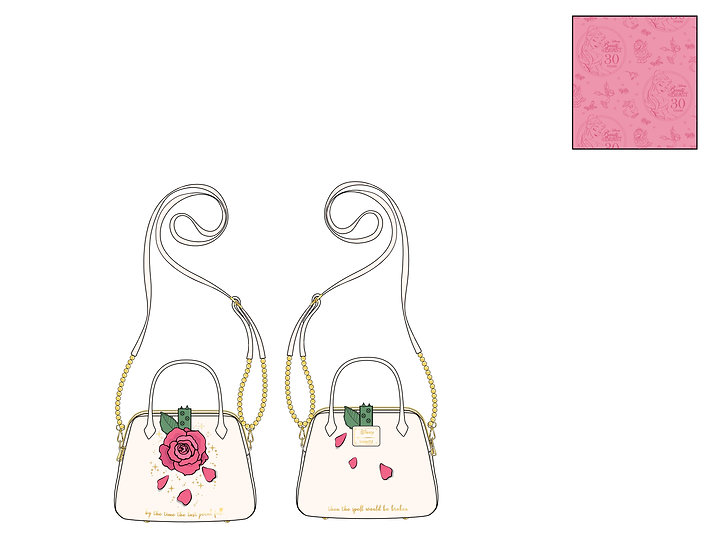 Pre-Order Loungefly Beauty and the Beast Rose Crossbody