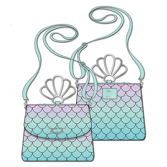 Pre-Order Loungefly Disney Little Mermaid Ombre Scales Crossbody