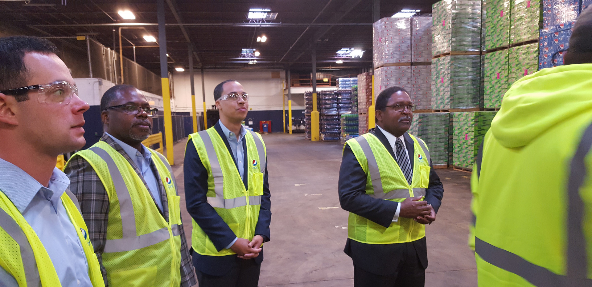 Delegates Jay Jone and Joe Lindsey Tour Pepsi Norfolk